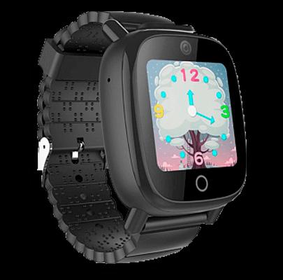 Смарт часы для детей FixiTime 3 черные с левой стороны