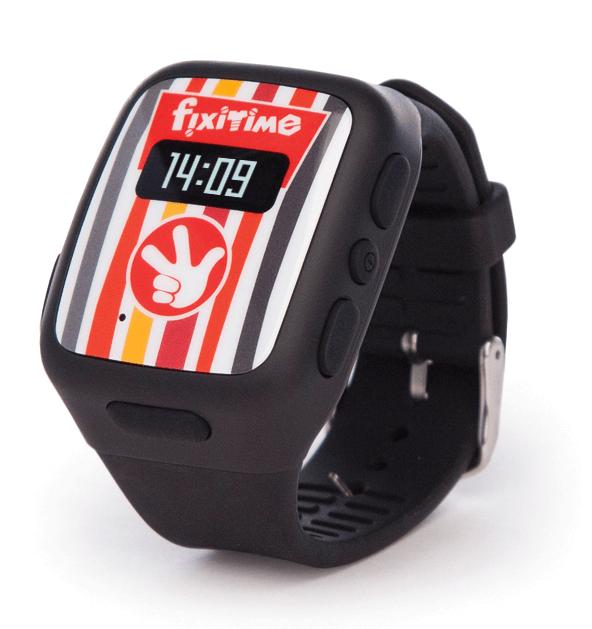 Умные часы FixiTime черные с правой стороны