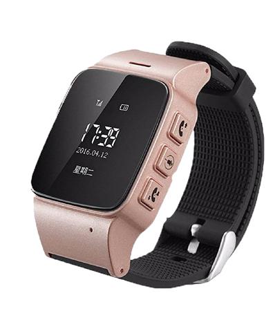 Детские умaные часы Smart Baby Watch D99 золотые с правой стороны