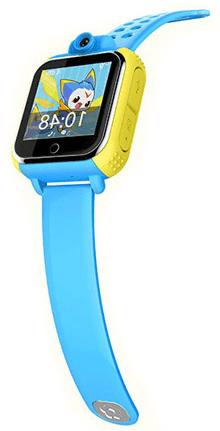 Смарт часы для детей Smart Baby Watch D10 голубого цвета с правой стороны