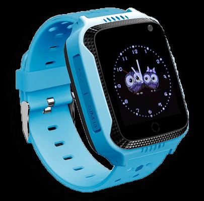 Детские умные часы Smart Baby Watch G100 голубого цвета с левой стороны