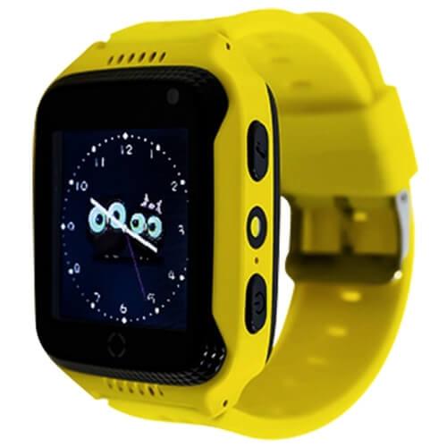 Детские умные часы Smart Baby Watch G100 желтые с правой стороны