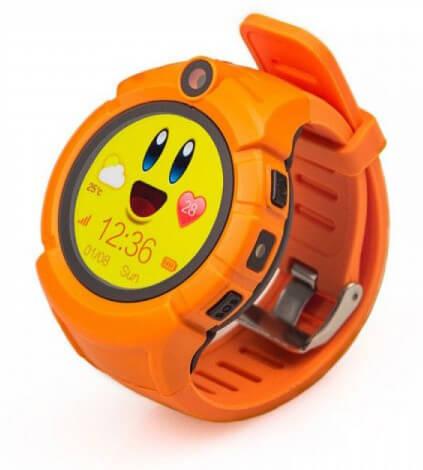 Детские умные часы Smart Baby Watch i8 оранжевые с правой стороны