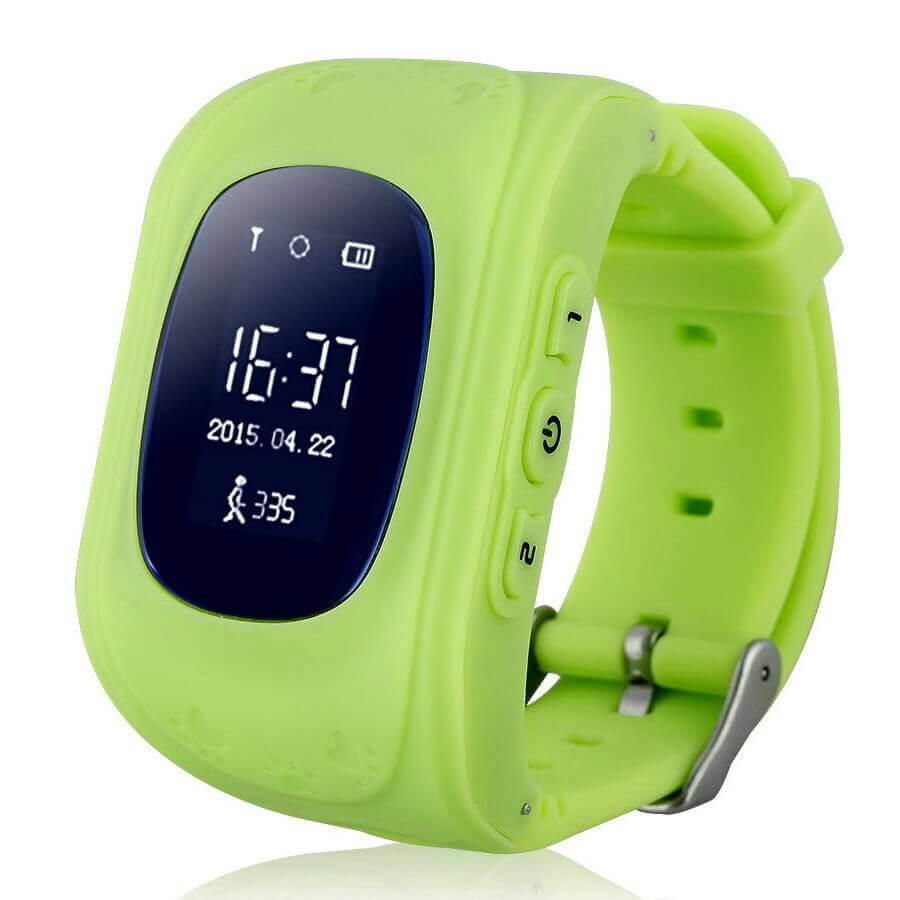 Смарт часы для детей Smart Baby Watch Q50 зелёного цвета с правой стороны