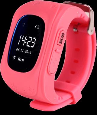 Смарт часы для детей Smart Baby Watch Q50 розового цвета с правой стороны