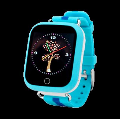 Smart Baby Watch Q90 (Q100) голубого цвета с правой стороны