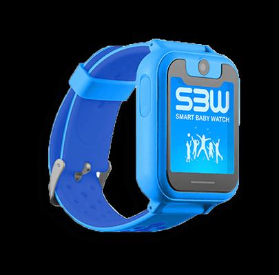 Смарт часы для детей Smart Baby Watch SBW X голубые с левой стороны