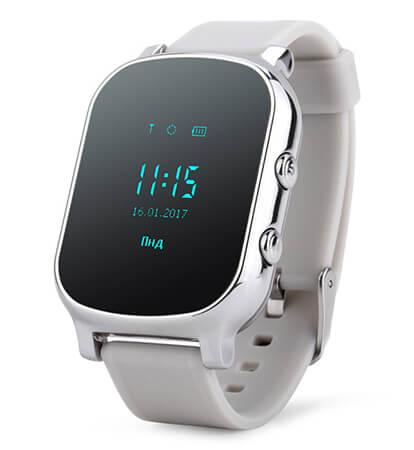 Детские умные часы Smart Baby Watch T58 серебристые с правой стороны