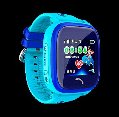 Детские умные часы Smart Baby Watch W9 голубого цвета с левой стороны