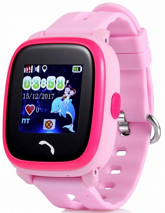 Детские умные часы Smart Baby Watch W9 розовые с правой стороны