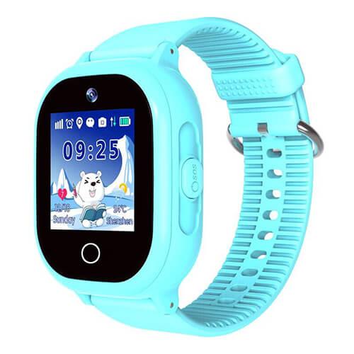 Детские умные часы Smart Baby Watch W9 PLUS голубые с правой стороны