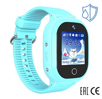 Детские умные часы Smart Baby Watch W9 PLUS голубые