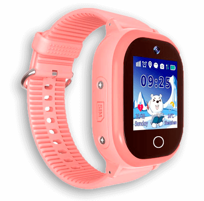 Детские умные часы Smart Baby Watch W9 PLUS розовые с левой стороны