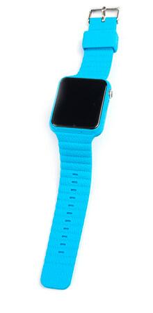 Детские умные часы Smart Baby Watch X10 голубые с правой стороны