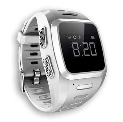Смарт часы для детей Wochi GOZO серебристые с левой стороны