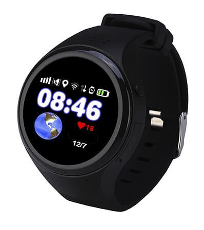Смарт часы для детей Wochi ZOOMIX черные с правой стороны