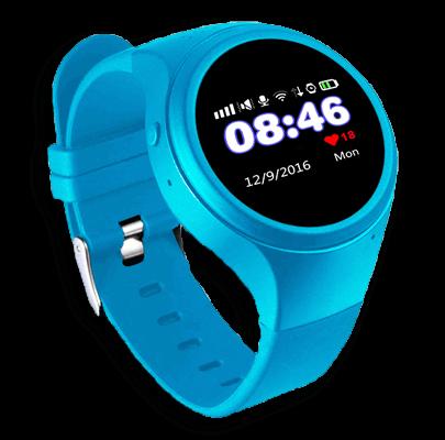 Смарт часы для детей Wochi ZOOMIX голубые с левой стороны