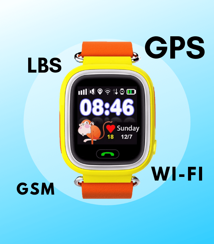 LBS GSM Wi-Fi и GPS в детских умных часах